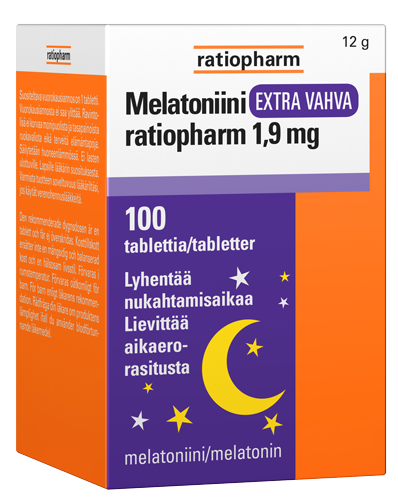 MELATONIINI EXTRA VAHVA RATIOPHARM 1,9 MG